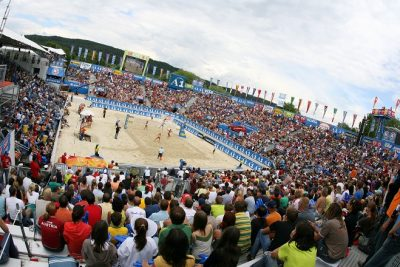 SWATCH-FIVB World Tour A1 Grand Slam during bronz medal match