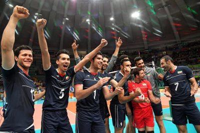 Iran celebrate