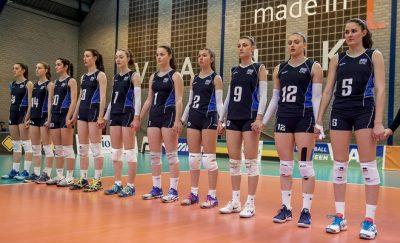 01-04-2017 NED:  CEV U18 Europees Kampioenschap vrouwen dag 1, Arnhem Turkije - Duitsland