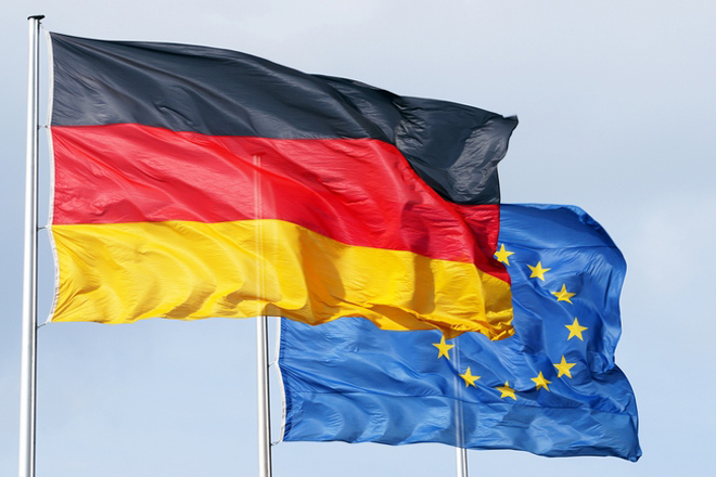 European and German flag