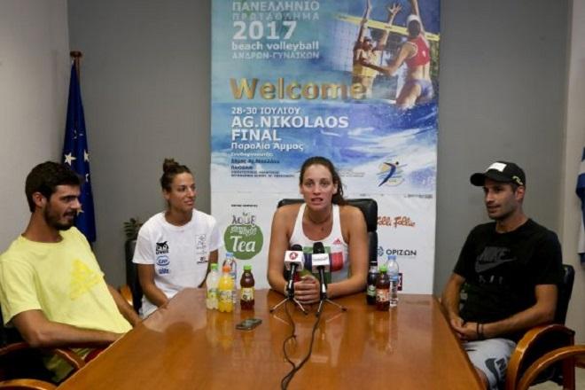 Agios Nikolaos Final Beach Volleyball Press Conference