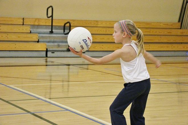 volleyball class serving 2