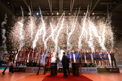 18.05.2019, Max Schmeling Halle, Berlin Volleyball, CEV Champions League Volley 2019 Super Finals, Siegerehrung    Foto: Conny Kurth / www.kurth-media.de