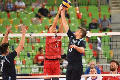 RUS vs GRE at EuroVolley2019 Eight Finals Ljubljana