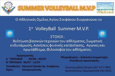 Summer Volleyball M.V.P.