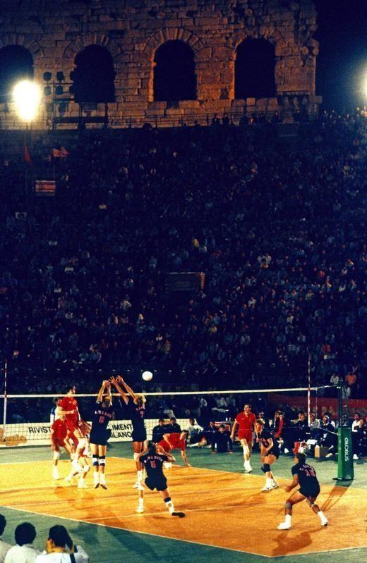 USA - URSS ( CCCP) arena di verona 23 maggio 1988 panoramiva dell'arena foto galbiati fiorenzo