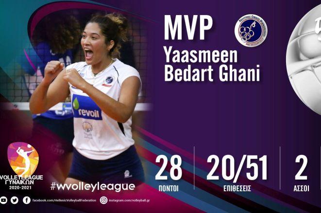Volley League Γυναικών: Η Μπεντάρτ MVP της 5ης αγωνιστικής