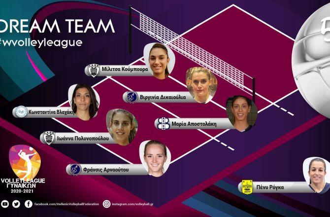 Volley League Γυναικών: Η κορυφαία επτάδα της 5ης αγωνιστικής