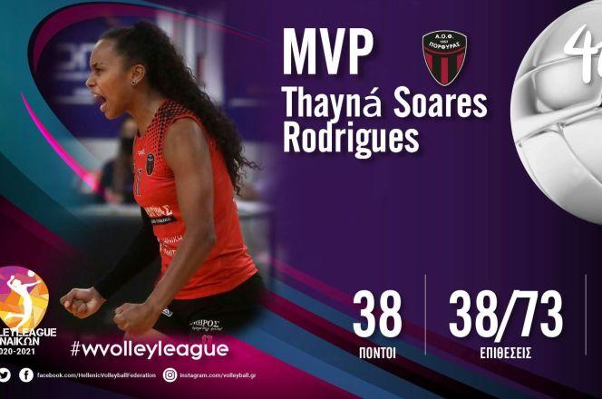 Volley League Γυναικών: Η Ταϊάνα Ροντρίγκες Σοάρες MVP της 4ης αγωνιστικής