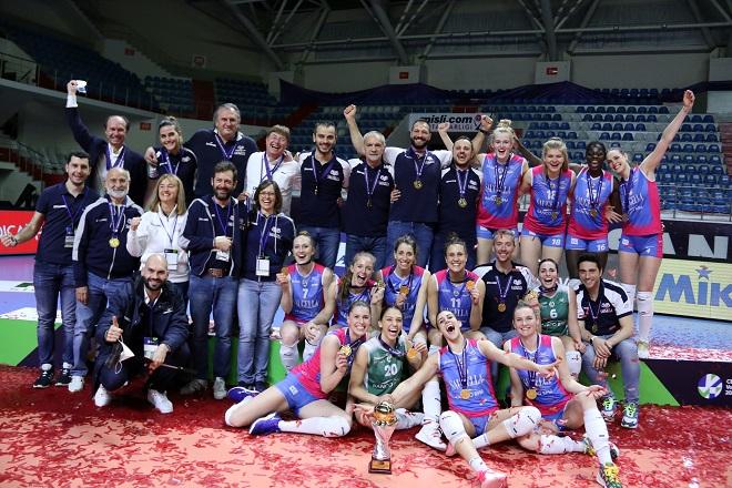 CEV Cup: Ιστορικός τίτλος για τις Κυπελλούχες της Μόντσα (vid)