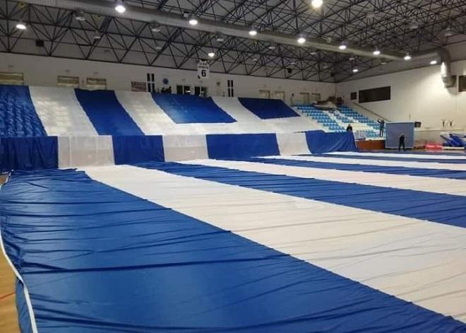 Στην έδρα του ΑΟ Θήρας η μεγαλύτερη ελληνική σημαία του κόσμου (vid)