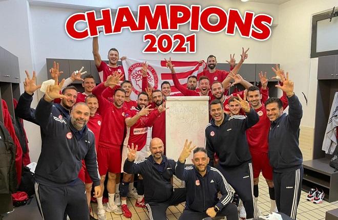 Ο Ολυμπιακός πανηγύρισε το 30ο Πρωτάθλημα με το βαθμό του Παναθηναϊκού στη Σύρο!